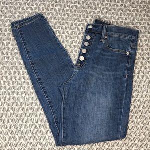 Gap 5 button high rise legging jean 27 r